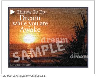 008 Sample Sunset Dream Card