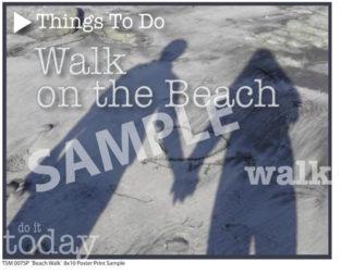 TSM 007SP Beach Walk Sample Small Poster