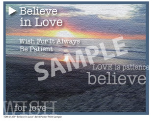 TSM 012SP Believe In Love Sample Small Poster