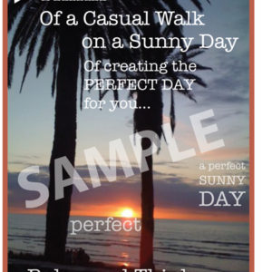 TSM 021SP Casual Walk Sample Small Poster