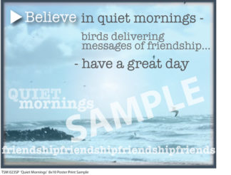 TSM 023SP Quiet Mornings Sample Small Poster